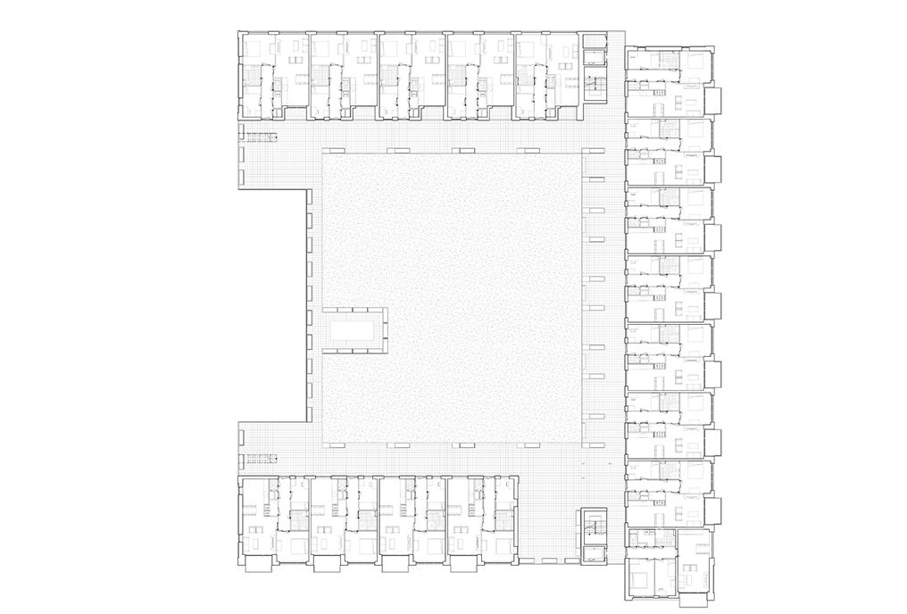 architect zoetmulder westerschans goes zeeland rws sociale huur woning huis bouwen kanaal water daktuin duurzaam ijsbuffer geel baksteen patroon geel brug
